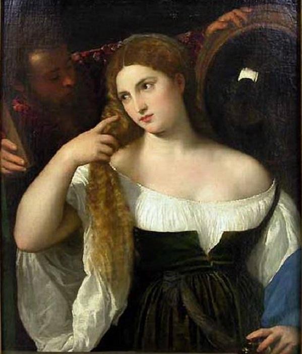 «Женщина перед зеркалом». Автор: Тициан Вечеллио.